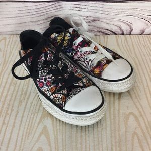 Converse 11 Youth Sugar Skull Butterfly Sneakers